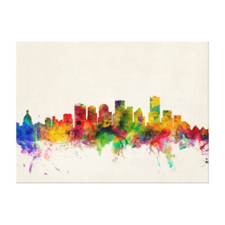 Edmonton Canada Skyline Cityscape Gallery Wrapped Canvas