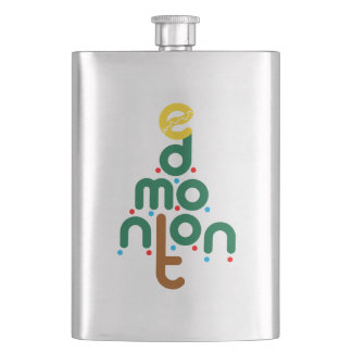 Edmonton Christmas Tree Flask
