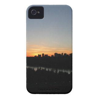 Edmonton Skyline after Sunset iPhone 4 Covers