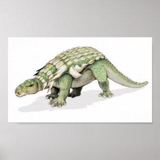 Edmontonia - armoured dinosaur Portfolio Poster