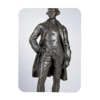 Edmund Burke (1729-97) 1865 (bronze) Rectangular Photo Magnet