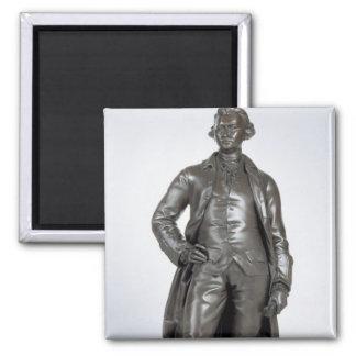 Edmund Burke (1729-97) 1865 (bronze) Square Magnet