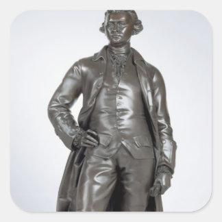Edmund Burke (1729-97) 1865 (bronze) Square Sticker