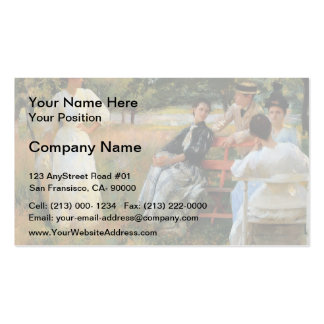 Edmund Charles Tarbell- In the Orchard Business Card Template