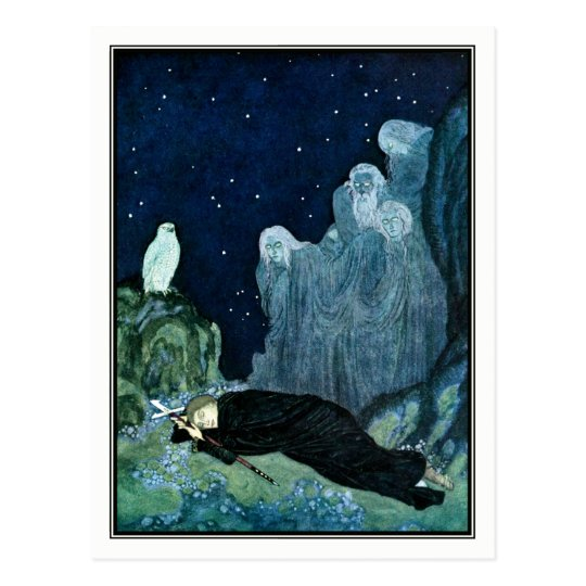 Edmund Dulac - The Dreamer of Dreams Postcard