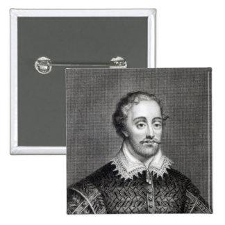 Edmund Spenser, engraved by Burnet Reading 15 Cm Square Badge