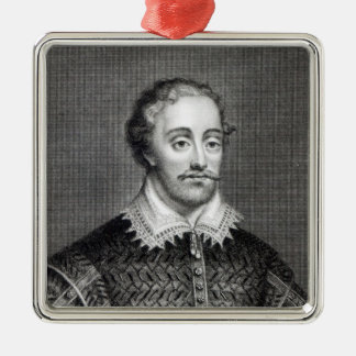 Edmund Spenser, engraved by Burnet Reading Christmas Ornament