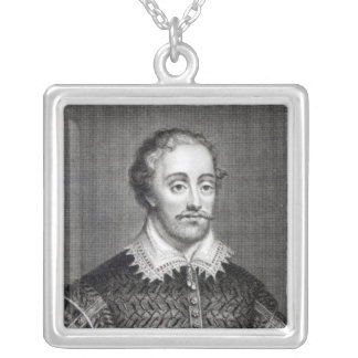 Edmund Spenser, engraved by Burnet Reading Silver Plated Necklace