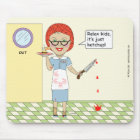 Edna The Lunch Lady Cartoons Mouse Mat