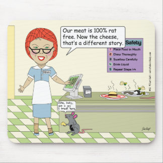 Edna The Lunch Lady Cartoons Mouse Pad
