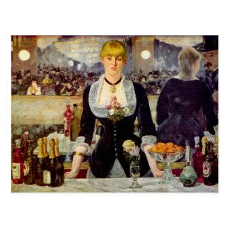 Edouard Manet - A Bar at the Folies-Bergere Card Postcard
