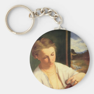 Edouard Manet- A woman pouring water Key Chain