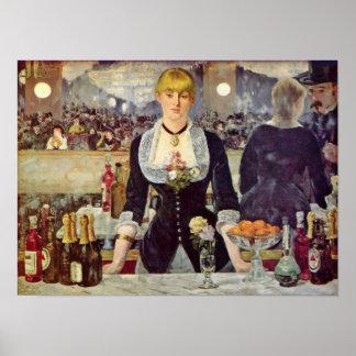 edouard Manet - Bar at the Folies-Bergere Posters