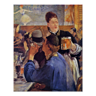 edouard Manet - Beer Waitress Poster