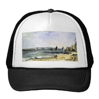 Edouard Manet- Seascape at Arcachon Hats