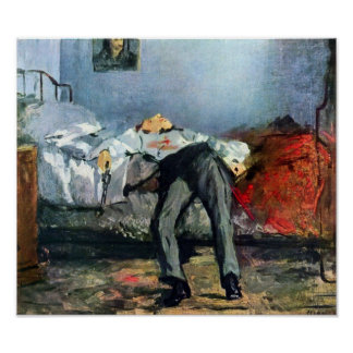 Edouard Manet - Suicide Poster