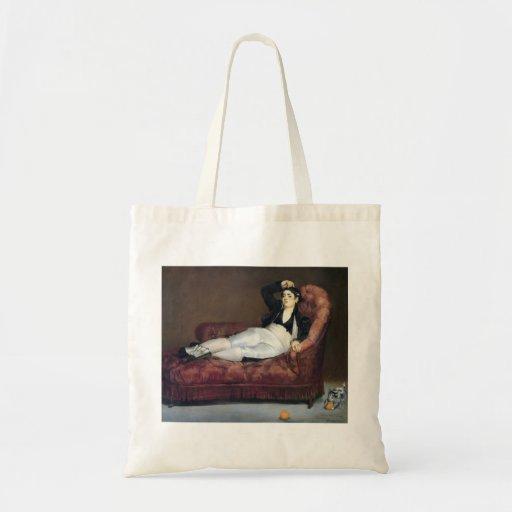 Edouard Manet- The barque of Dante Canvas Bag