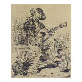 Edouard Manet - The guitar Player Poster