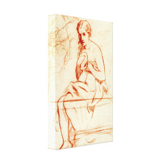Edouard Manet - Women at the Toilet Gallery Wrap Canvas