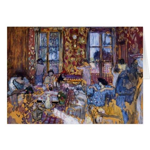 Edouard Vuillard- Breakfast at Villerville Greeting Card
