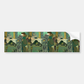 Edouard Vuillard- The Flowered Dress Bumper Sticker