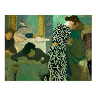 Edouard Vuillard- The Flowered Dress Postcard
