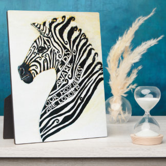 EDS Art Zebra With Easel Plaque