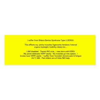 EDS Awareness Card - 2013 Pack Of Skinny Business Cards