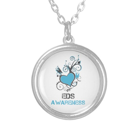EDS Awareness Heart Butterfly Necklace
