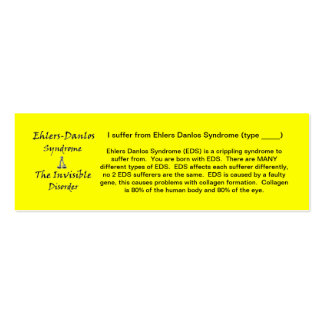 EDS Awareness - Skinny Pack Of Skinny Business Cards