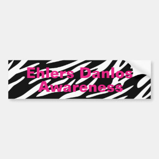 EDS Awareness Zebra Stripe Bumper Stickers