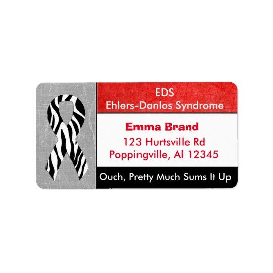 EDS Ehlers-Danlos Syndrome Mailing Address Label