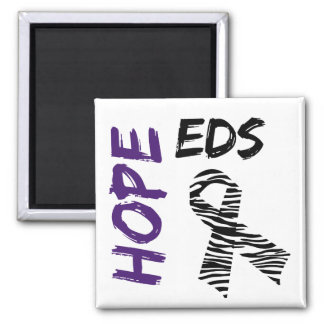 EDS Hope Zebra Ribbon Magnet