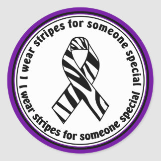 EDS I Wear Stripes for Someone Special Stickers