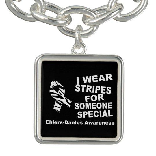 EDS I Wear Stripes Someone Special Charm Bracelet