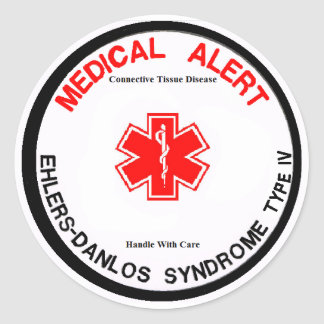 EDS IV Medical Alert Sticker