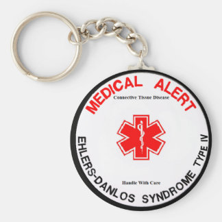 EDS IV VEDS Medical Alert Key Chain