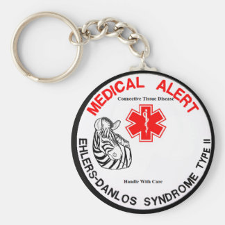 EDS Type 2 Medical Alert with Zebra Keychain