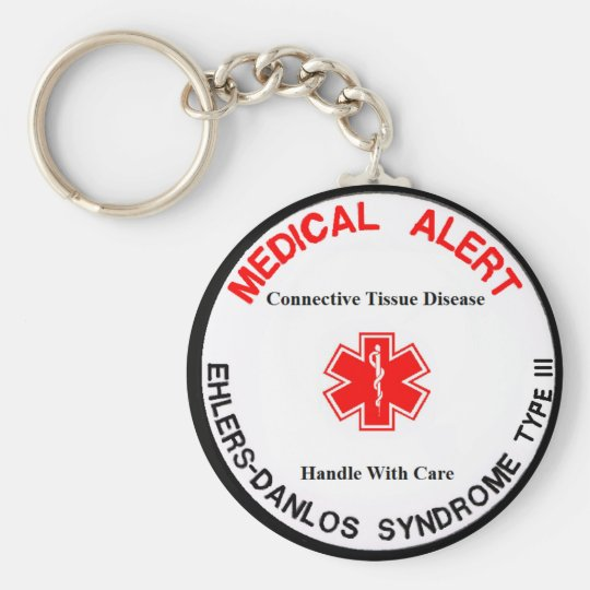 eds type 3 medical alert keychain