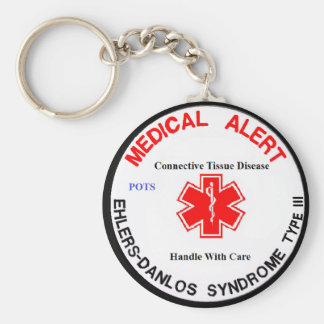 EDS type 3 POTS medical alert keychain
