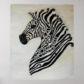 EDS Zebra by Artist Cherish Fletcher Posters