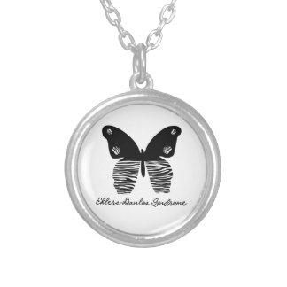 EDS Zebra Striped Butterfly Necklace