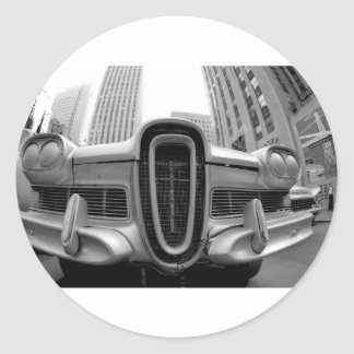 Edsel in NYC Classic Round Sticker