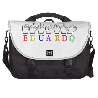 EDUARDO NAME SIGN FINGERSPELLED ASL BAG FOR LAPTOP