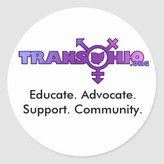 Educate. Advocate. Support. Community. Classic Round Sticker