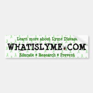 Educate Research Prevent Lyme Disease Awareness Bumper Sticker