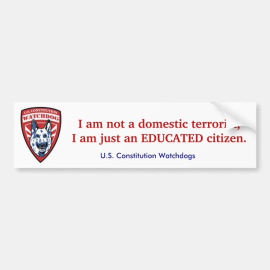 Educated Citizen Bumper Sticker