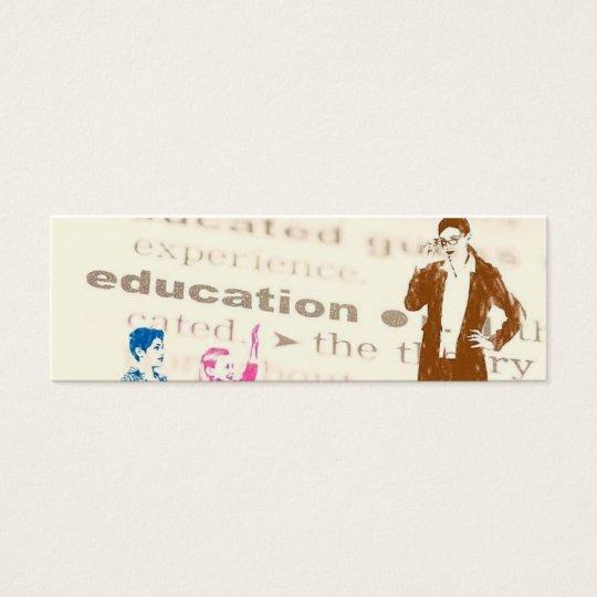 Education Bookmark Mini Business Card