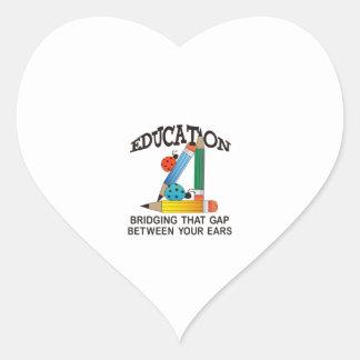 EDUCATION BRIDGING GAP HEART STICKER