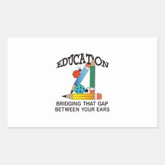 EDUCATION BRIDGING GAP RECTANGULAR STICKERS